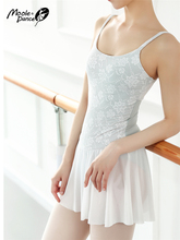 Kant Geborduurde Gymnastiek Turnpakje Volwassen Vrouwelijke Dans Body Basic Ballet Training Maillots Met Rokken Professionele Tutu