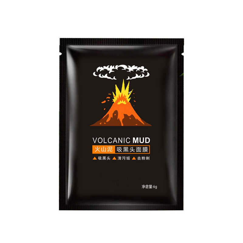 Dropship 1 PCS di Aspirazione Testa Nera Viso Pacchetto Idratante Anti Rughe Collagene Coreano Vulcanica Maschera di Fango Acne Trattamento Maschere