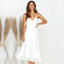 Sexy Dress Women Solid Color Party Night Dress-Ladies Backless Vestidos Elegant women dress Pleated dresses boxed pleated solid shell dress