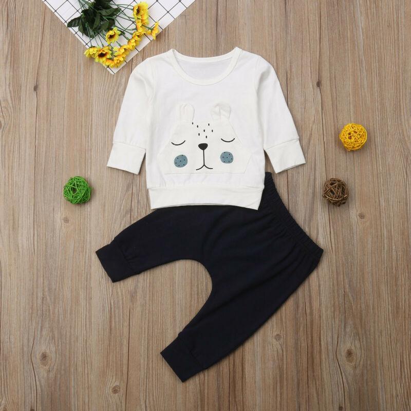New 0-18M Baby Boy Clothes Set Girls 3D Bear Warm Top Kids Long Pants Newborn Outfits Kid Clothing Set 2