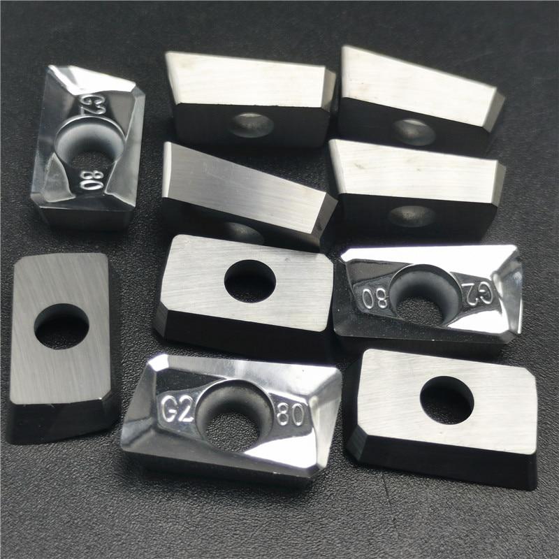 APGT1604 PDFR APGT 1604 G2 H01 Aluminum Cutter Blade Insert Cutting Tool Turning Tool CNC Tools AL +TIN Alloy Wood