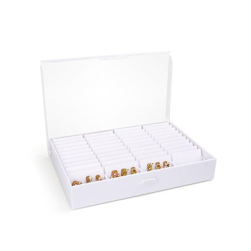 Faux ongles conseils boîte de rangement 44 compartiments Nail Art décoration conteneur faux ongles vitrine acrylique ongles montrant étagère