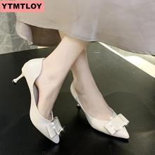 2019 spring and autumn new ladies square high heel womens shoes stiletto heels sexy point toe