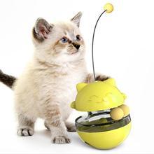 Tumbler Design Multifunctional Cat Toy Anti-Wear Increase Cat'S IQ Durable Treat Ball Pet Feeding