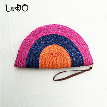 Straw Clutch Purses For Women Girls Simple Gifts Summer Casual Beach Handbags For Wedding Envelope Wallet Female Evening Bags