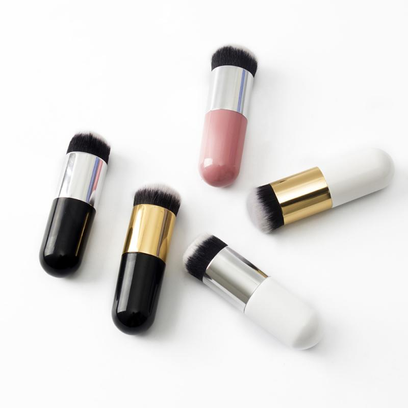 6 Color choose Chubby Pier Foundation Brush Cute Flat Cream Makeup Brush Professional Cosmetics Makeup Brush Portable Brush