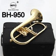 Музыка Fancier клуб Профессиональный flugelhorn BH-950 золотой лак с чехол для профессиональных flugelhorn s Bb желтый Латунный Колокольчик