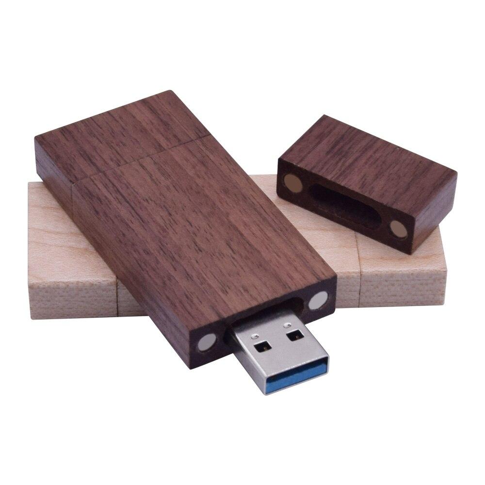 Engraved 10PCS USB 3.0 16GB Wooden USB Flash Drive and Box Bundle Wedding USB