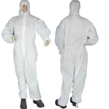 Disposable White Coveralls Painters Protective Overall Boiler Suit Hood Lab Coat Medical Work Wear Clothes One Pices