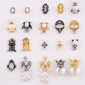 100Pc 3D Nail Art Strass Rhinestones Alloy Nail Charms Retro Geometrical Square Gems Drops Design Jewelry Stones Manicure JC1083 1