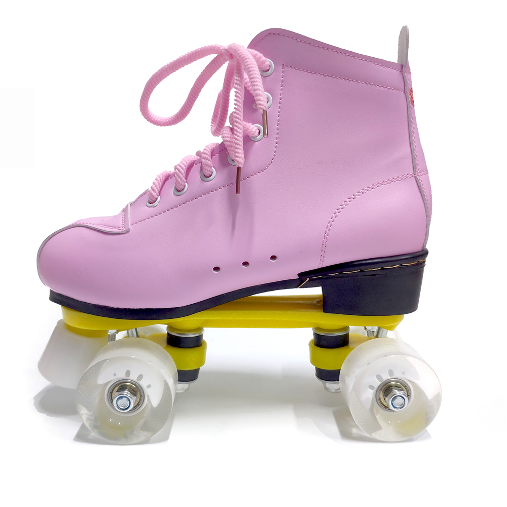 Pink Color Artificial Roller Skates Professional Adult Skating Shoes Sliding Free Skate Size 35-44 With PU Wheel