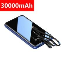 Power Bank 30000mAh mobile Mirror digital display phone Batt