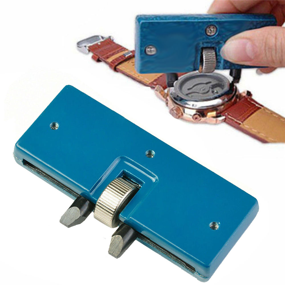 Two Claw Table Key Watch Rear Cover Open Tool Adjustable Rectangular Remover Wrench Watch Repair Kit Tool