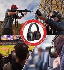Image 4 - Шумоподавляющие наушники ZOHAN, наушники NRR 28 дБ, наушники для защиты слуха, регулируемые наушники протекторы, гарнитура