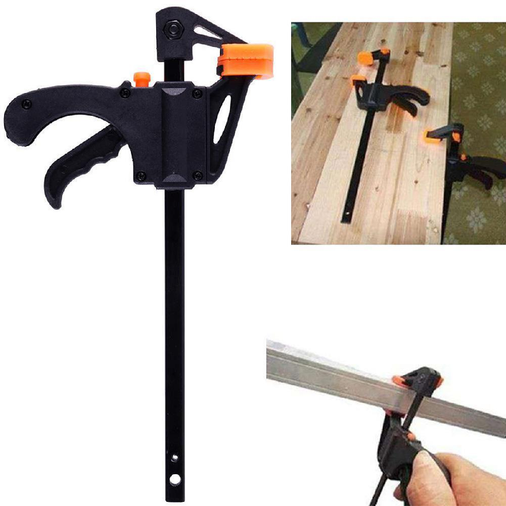 Adjustable 4 Inch F Clamps Clip Grip Quick Ratchet Release Woodworking DIY Hand Tool Kit Free Shipping