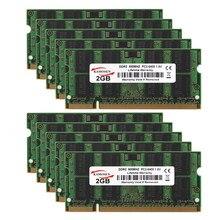 10 шт. набор DDR2 2GBX10 PC2-6400 800 МГц SODIMM Оперативная память памяти без кода коррекции ошибок оптом/в партии