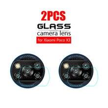 2PCS Poco X3 NFC Back Camera Lens Protective Glass on For xiaomi Poco X3 m3 Tempered Glass PocoX3 pocom3 lens screen Protective