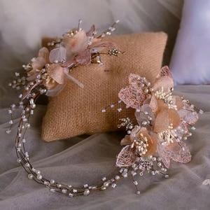 Image 1 - Royal Flower ślubne opaski na głowę tiary miękkie ślubne opaski wieczorowe nakrycia głowy ślubne akcesoria do włosów