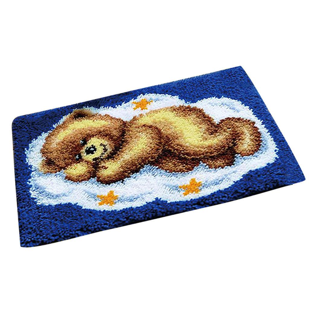 Набор крючков с защелкой для ковров, подушка для вышивки крючком, зимние подарки ручной работы