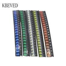 5 colors x20pcs =100pcs SMD 0805 led kit Red/Green/Blue/Yellow/White LED Light Diode Free Shipping! KIT