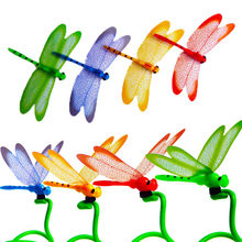 3D Dragonfly Shape Fridge Magnet Refrigerator Wall Sticker Set Wall Decor Room Decoration Bedroom Decor Decoracion Hogar Moderno(China)