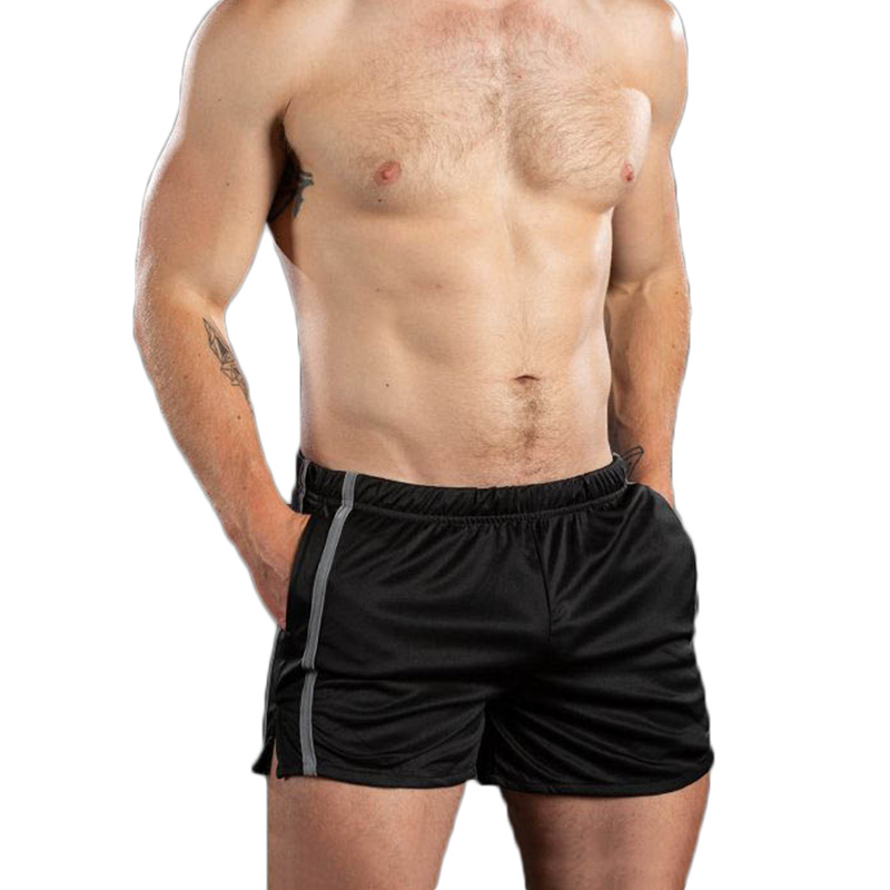 Summer leisure sports men's sports shorts side slit running fitness basketball training sweat quick dry stretch leggings