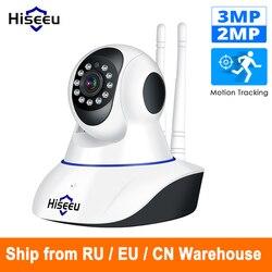 Hiseeu 1080 P IP كاميرا لاسلكية كاميرا مراقبة للمنزل مراقبة كاميرا واي فاي للرؤية الليلية كاميرا تلفزيونات الدوائر المغلقة مراقبة الطفل الذكية الم...