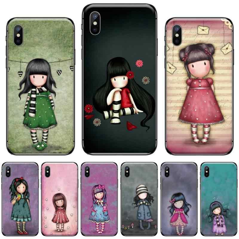 Santoro Gorjuss cartoon girl Bling Cute Phone Case For iphone 5 5s ...