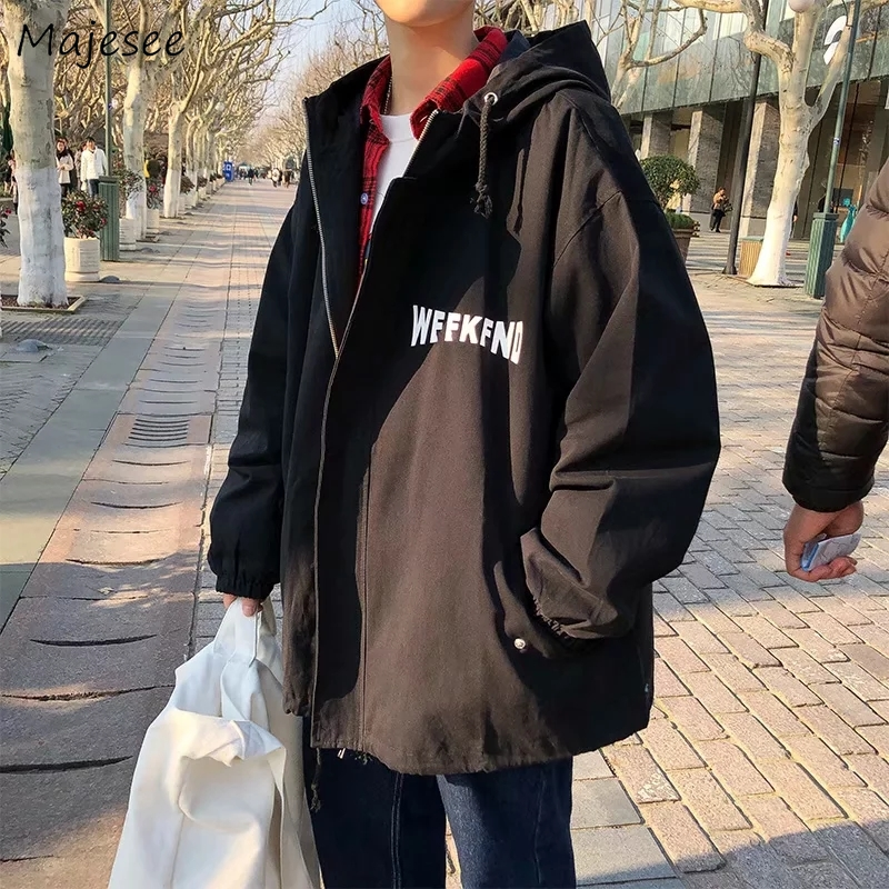 Men Jackets Ins Daily Outwear Letter Printed Trendy Leisure Mens Korean Style Harajuku Chic Loose Oversize Plus Size 3XL New