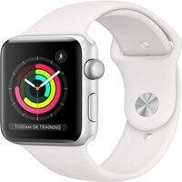 Apple Watch Series 3 GPS 38MM/42MM aluminio de color plata caso blanco con banda deporte remoto de Smartwatch