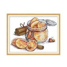 Набор для вышивки крестом с лимоном aida 14ct 11ct печать холсты стежков вышивка своими руками