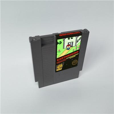 Versão de adesivo clássico earthbound 72 pinos 8bit cartucho de jogo
