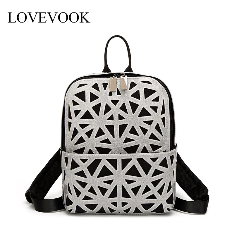 LOVEVOOK Women Backpack School Bags For Teenage Girls Fashion Hollow Backpack For Travel/work/school Small Backpack For Ladies