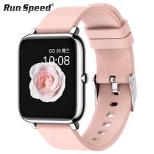 P22 ساعة ذكية الرجال النساء الرياضة ساعة اللياقة البدنية تعقب رصد معدل ضربات القلب النوم مراقب IP67 Smartwatch ل ممن لهم أندرويد IOS