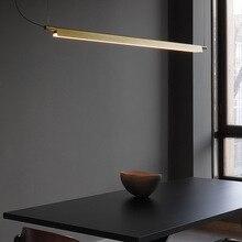 LED lampe suspendue lampe nordique lumière luxe moderne simplicité bureau LED lustre Art lumières Restaurant