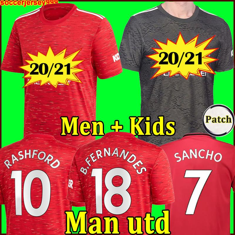 2020 Manchester 2021 UTD BRUNO FERNANDES SANCHO Bermejo jersey de fútbol JAMES camisetas de fútbol camisa 20 21 hombre + kit para niños|Camisetas| - AliExpress
