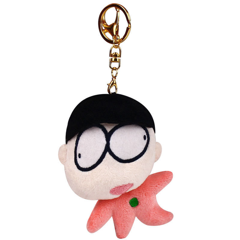 12cm Mr. Osomatsu-san Osomatsu Plush Keychain Stuffed Cotton Plush Toy Clip Chain Keychain Doll Cute Pendant Keyring Fans Gift