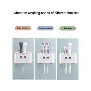 Image 2 - LEDFRE plastik otomatik diş macunu sıkacağı dağıtıcı seti duvara monte çocuklar eller çocuklar için ücretsiz banyo LF71001