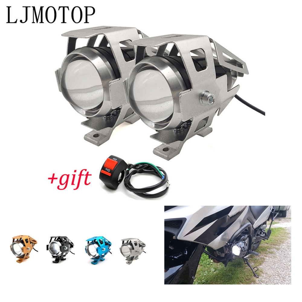 Motorcycle 12V LED Headlights Auxiliary Lamp U5 Spotlight Motorbike For <font><b>BMW</b></font> C 650 600 Sport C 650 400 GT <font><b>F</b></font> 650 <font><b>700</b></font> <font><b>GS</b></font> F800 GT R image