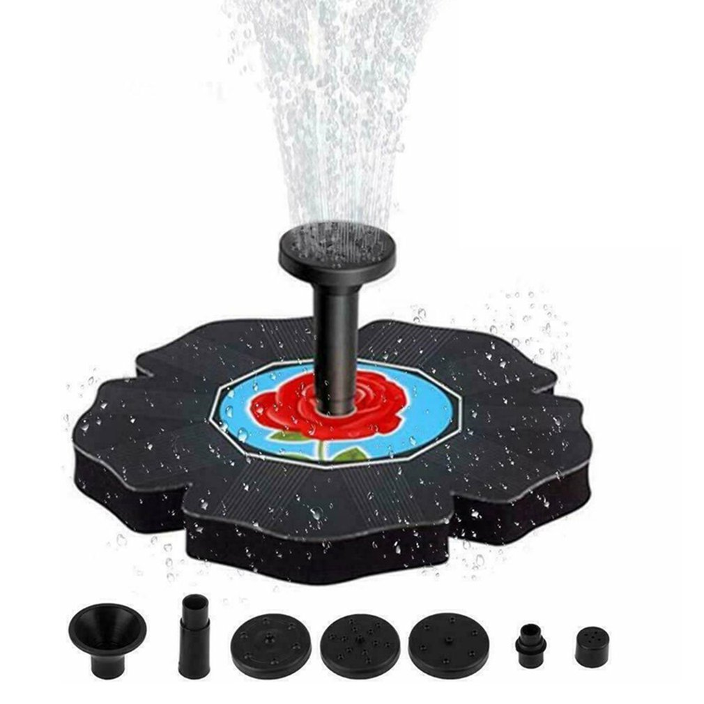 Floating Solar Power Water Floating Fountain Pump Pool Garden Watering Pump For Bird Bath Aquarium Garden