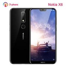 Originele Nokia 6.1 Plus Dual Sim Lte 4G Unlocked Mobiele Telefoon Nokia X6 5.8 ''16MP 4G + 64G Rom Refurbished Android Smartphone