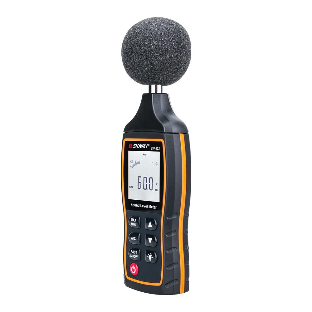 SNDWAY Medidor digital de nivel de sonido Decibelio Monitoreo - Instrumentos de medición - foto 2