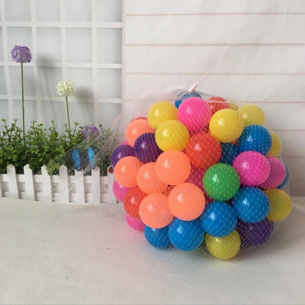 100pcs Real Relax 5.5cm Colorful Ball Soft Plastic Ocean Ball For Kid Eco-Friendly Soft Plastic Water Pool Ocean Wave Ball