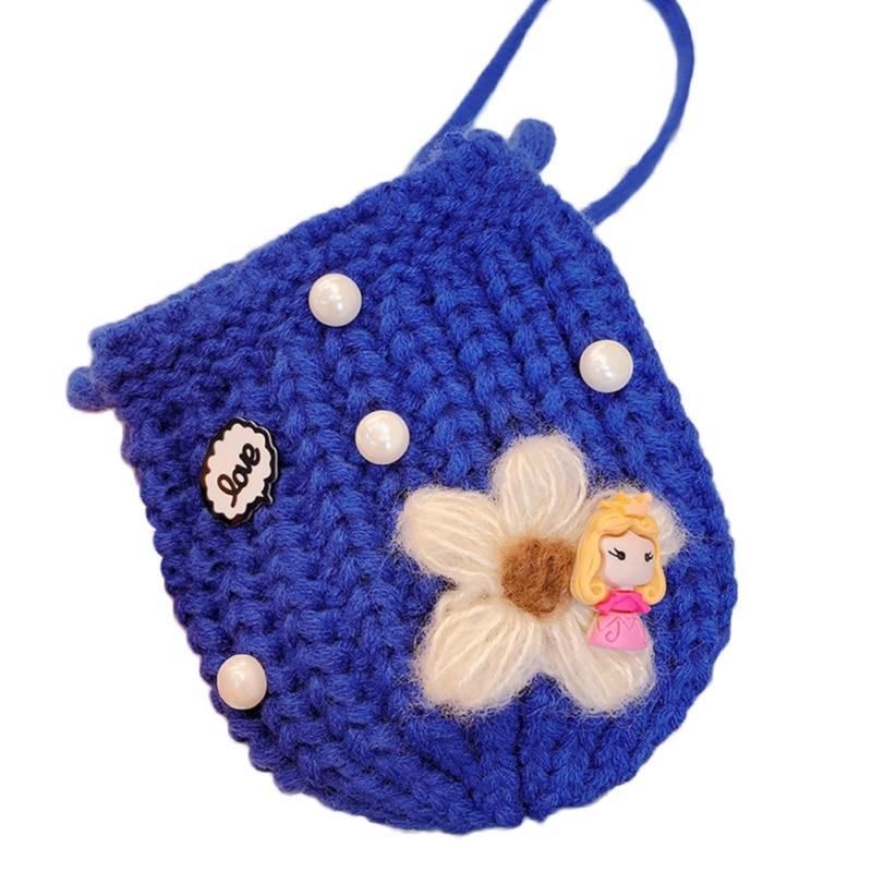 Детская сумка для девочек с милым мультяшным жемчугом, Вязаная Детская сумка через плечо, сумки через плечо, сумка-мессенджер - Цвет: L