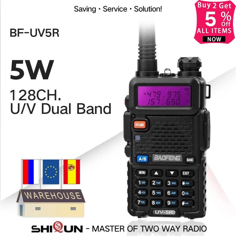 Baofeng UV-5R Walkie Talkie Dual Display Dual Band Baofeng UV5R Portable 5W UHF VHF Two Way Radio Pofung UV 5R HF Transceiver