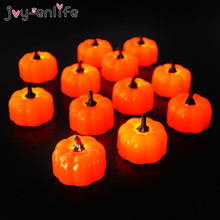 4pcs Halloween Pumpkin light Led tea light Halloween party Table decoration candle lantern lamp decor home garden haunted house halloween cartoon doll pumpkin witch cat party ideal decoration for club bar shop home showcase bar table shelf holiday decor