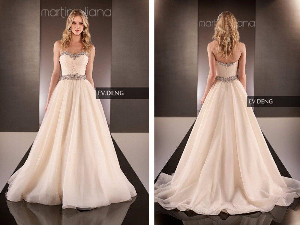 Bridal Ball Gown Vestido De Noiva Casamento New Sexy Wedding Dress 2016 Hot Sale Sweetheart Organza Crystal Bride Dresses
