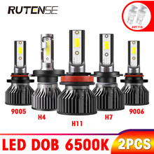 цена на Car Headlight Bulb led H4 H7 H11 H1 H3 9005 HB3 9006 HB4 9012 880 881 H13 9004 9007 auto h4 led car light headlamp 12V 6000K 72W