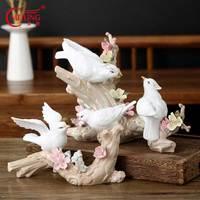 Vintage Ceramic Bird Figurines Handmade Porcelain Animal Statue Collectibles Home Decor Memorable Wedding Birthday Xmas Gifts
