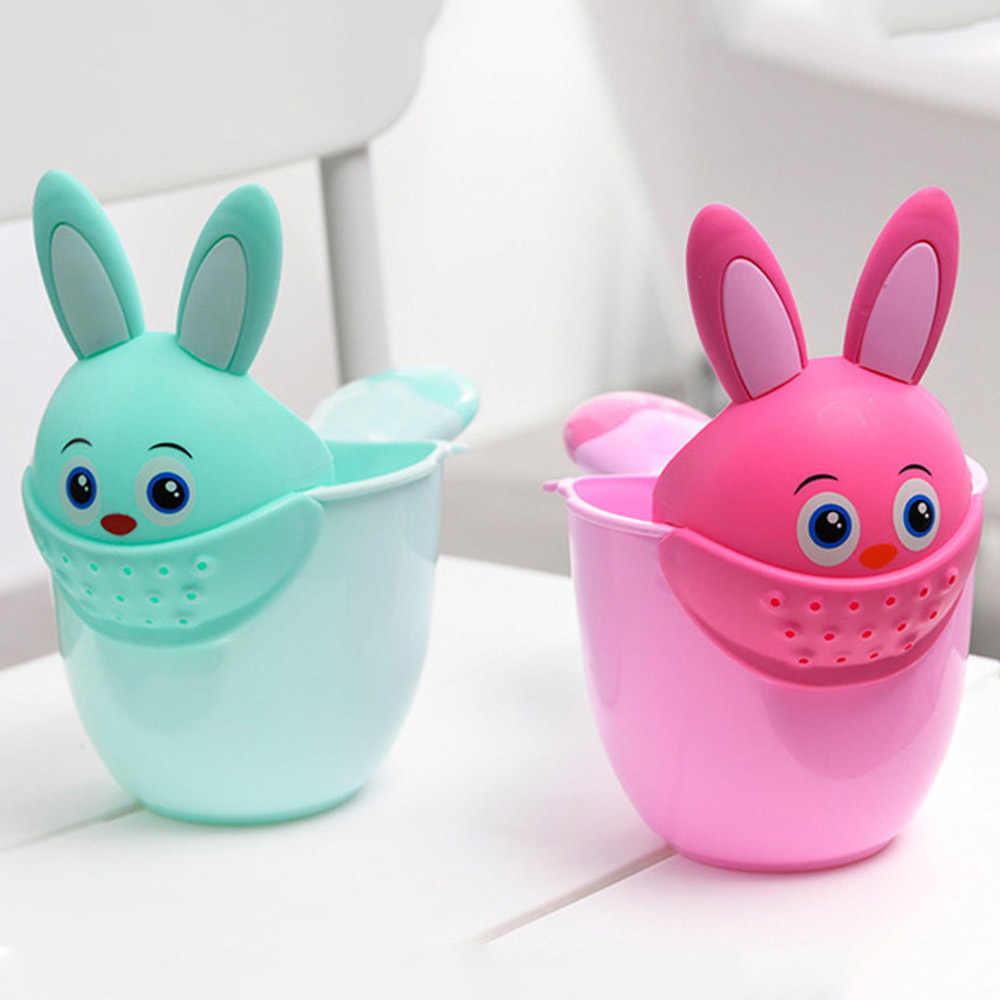 Sơ Sinh Trẻ Em Hoạt Hình Thỏ Tắm Cốc Kid Sữa Tắm Dầu Gội Cốc Bailer Nước Tắm Cho Bé Thìa Tắm Rửa Cốc Tắm Cup